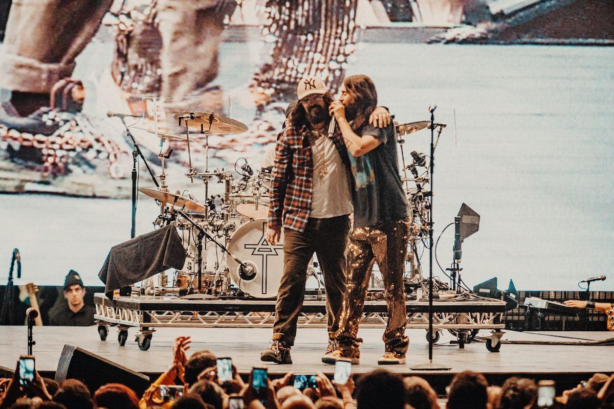 Jared Leto insieme a Alessandro Michele