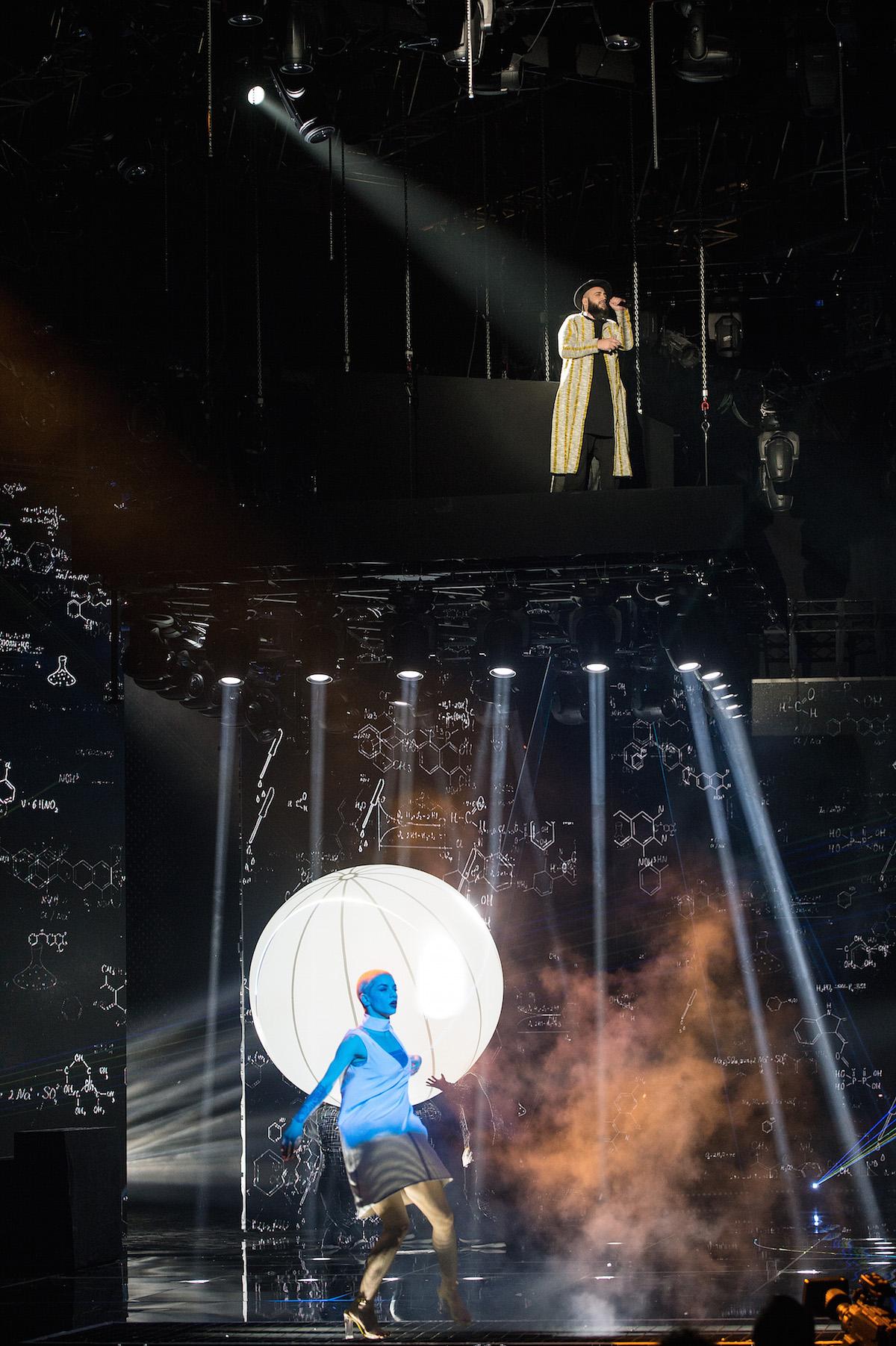 Andrea Radice durante la sua ultima puntata a X Factor 11