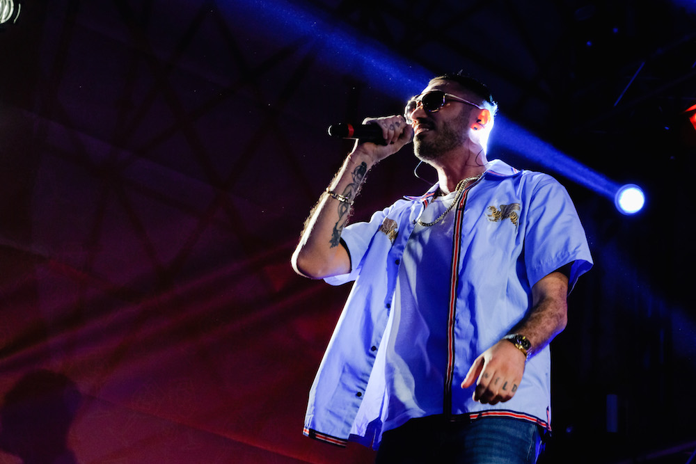 Marracash all'evento Aperol Happy Together Live