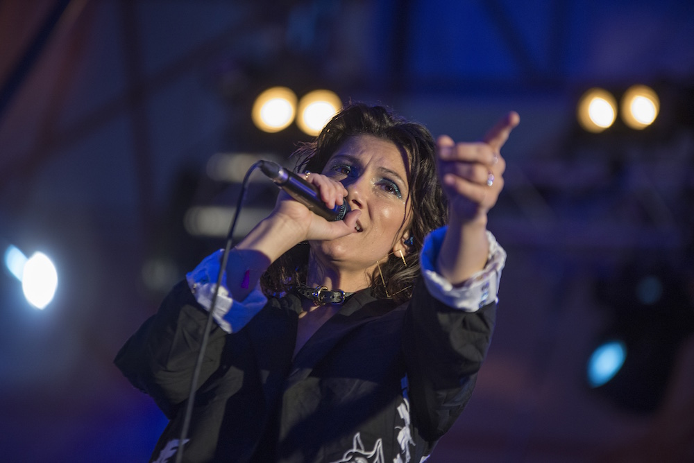 Elisa all'evento Aperol Happy Together Live