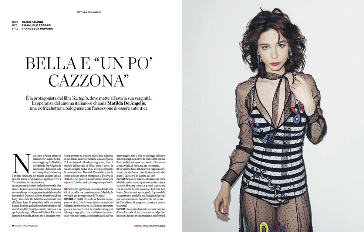 Matilda De Angelis si racconta sul nuovo numero di Rolling Stone