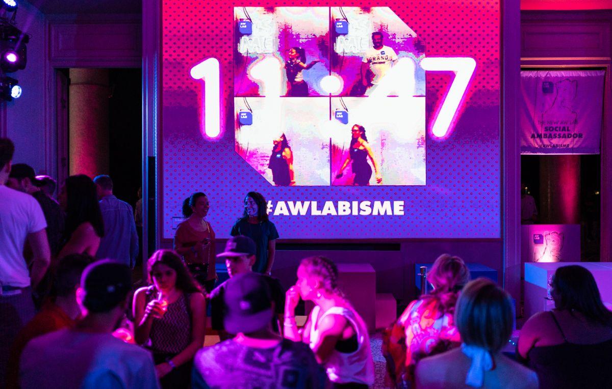 """Il party di chiusura di """"AW LAB IS ME"""" in Palazzina Appiani, a Milano, il 30 giugno 2018."""