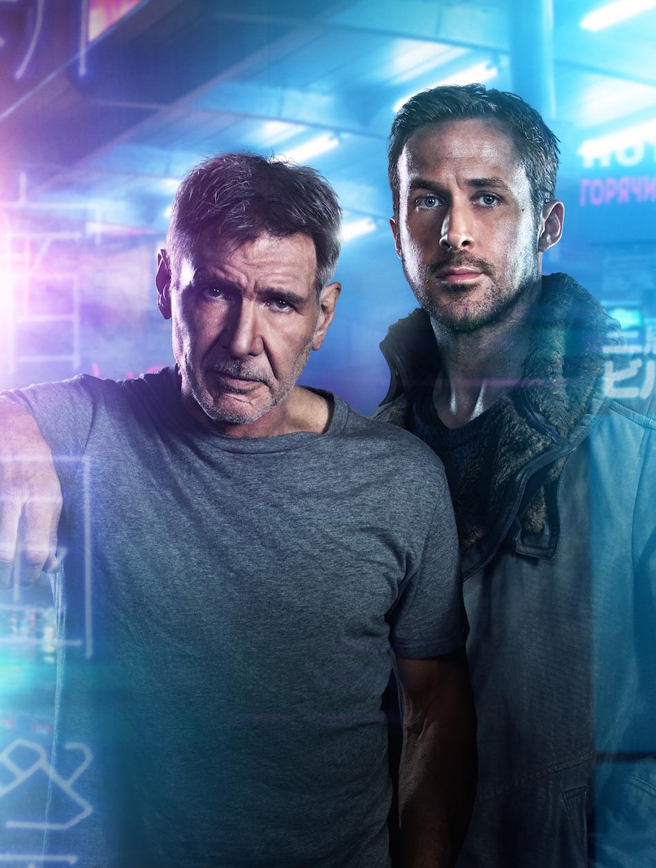 Ryan Gosling (K) e Harrison Ford (Rick Deckard) in 'Blade Runner 2049'