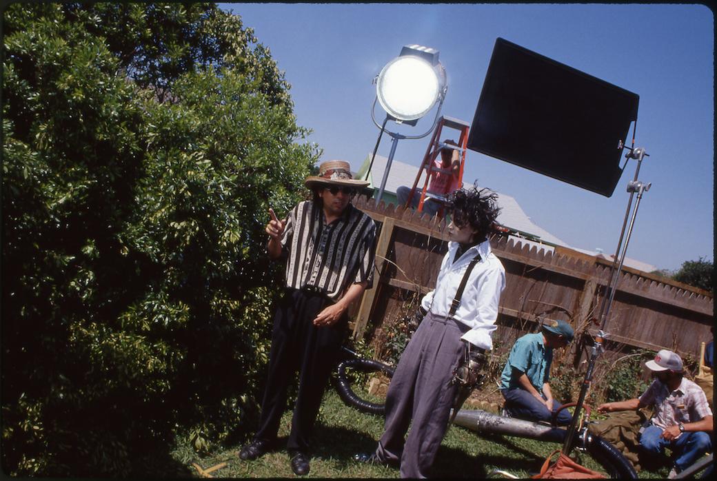 """Tim Burton e Johnny Depp sul set di """"Edward Mani di Forbice"""""""
