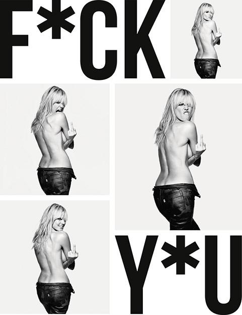La copertina del libro con Heidi Klum © Rankin