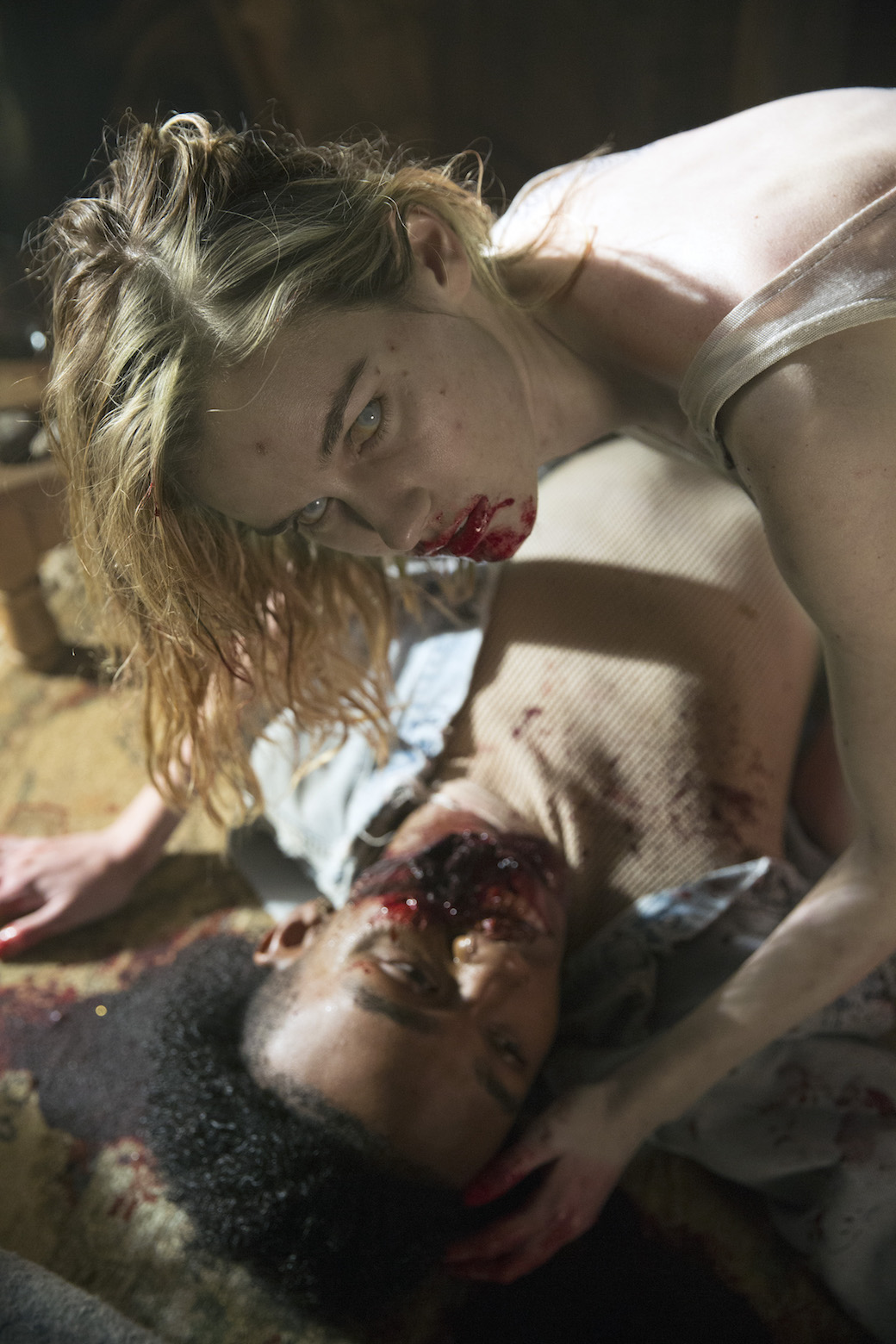 Lexi Johnson è Gloria nel primo episodio di Fear the Walking Dead - Foto di Justin Lubin/AMC