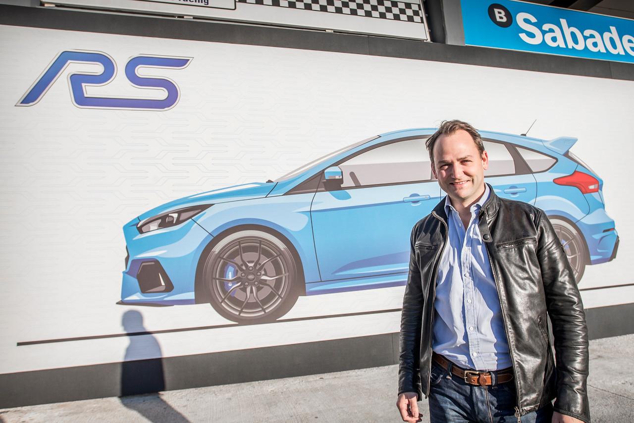 Ben Collins alla presentazione della Ford Focus RS