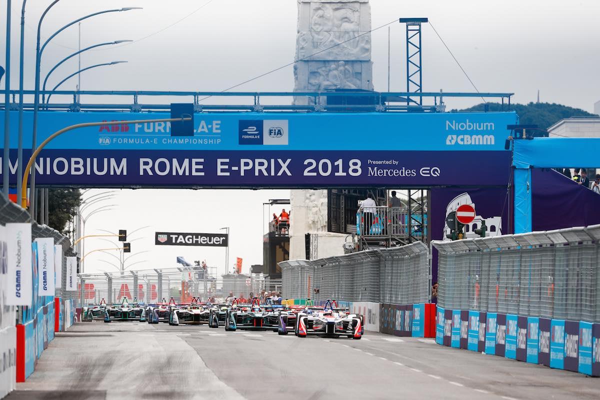 La griglia di partenza del gran premio Formula E a Roma.
