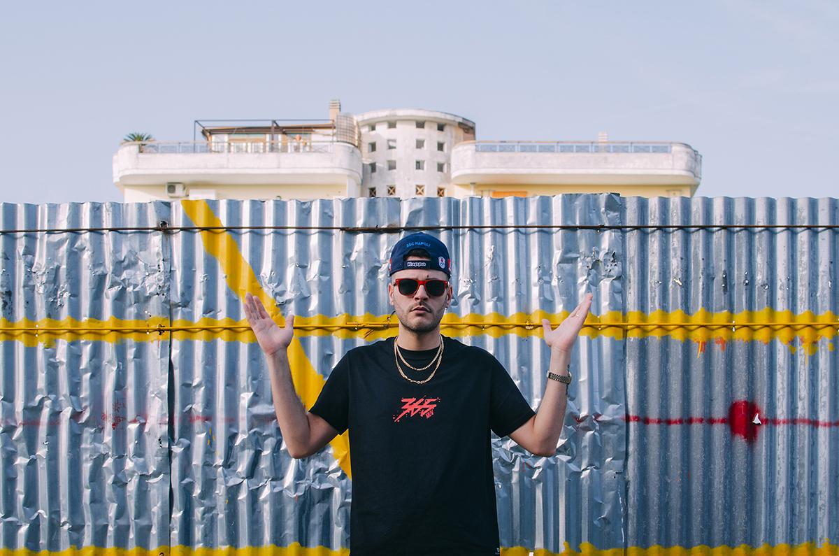 Il rapper Danny Mega del collettivo 365