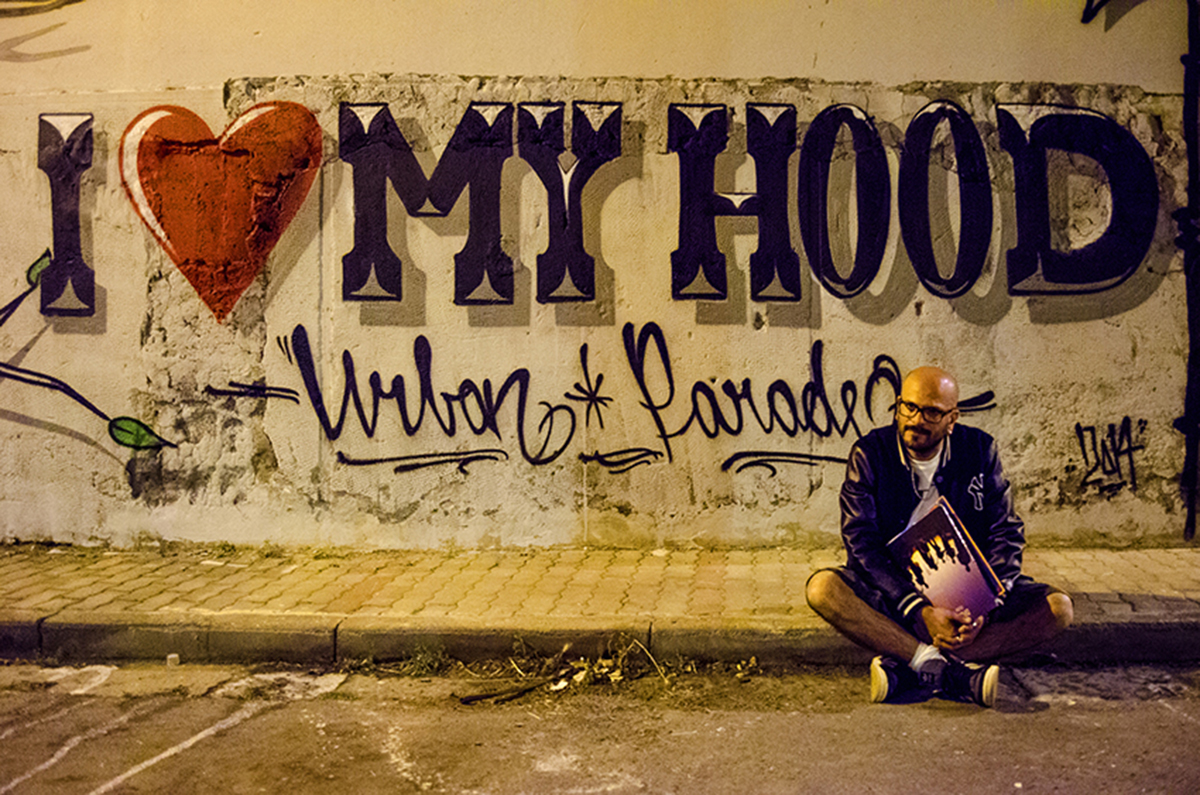 Il dj Jamyke ritratto nel corso dell' Urban Jam Parade che si tiene a San Giuseppe Vesuviano (Na)