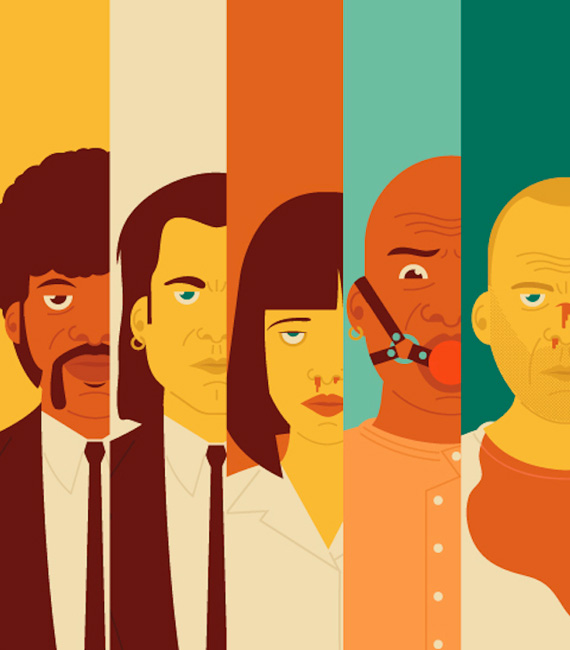 "Pulp Fiction torna in questi giorni nelle sale, per chi l'ha visto e per chi non c'era. 'Royale With Cheese' è il titolo del lavoro che l'illustratore Andrew Heath ha dedicato al film di Quentin Tarantino, all'interno suo progetto ""Pop Culture"", un omaggio ai simboli cult del mondo cine-tv&game: da Batman a Pac Man… 