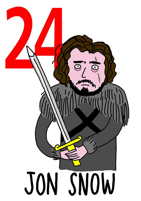 24 - Jon Snow / 'e Gguardie (Le guardie)