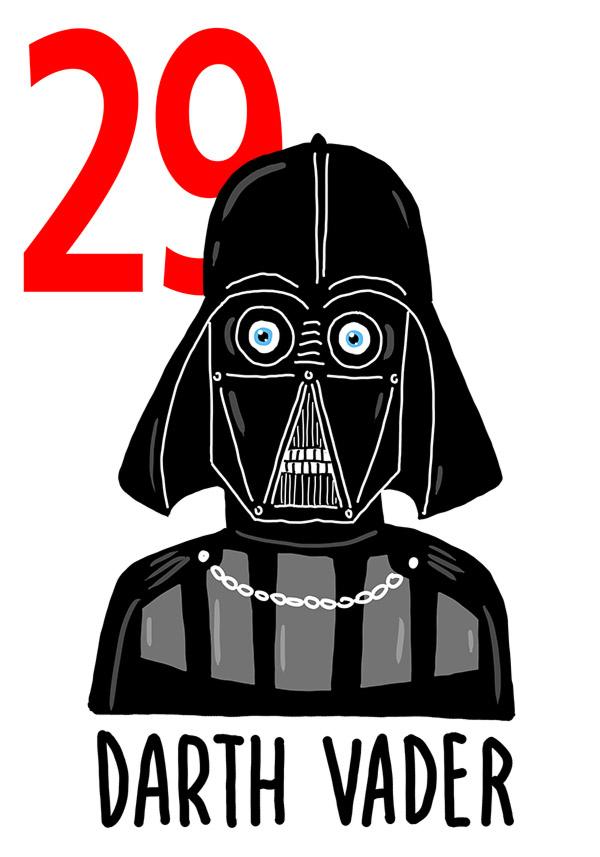 29 - Darth Vader / 'o Pate d''e Ccriature  (Il padre dei bimbi - pene)