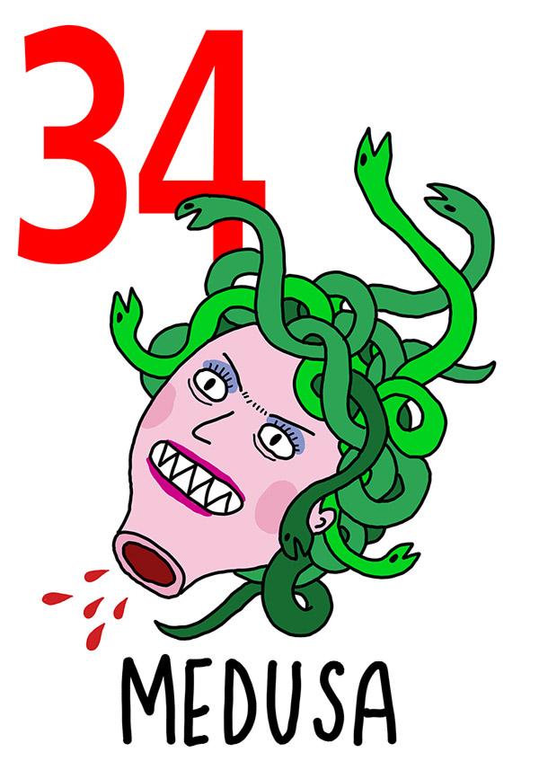 34 - Medusa / 'a Capa (La testa)
