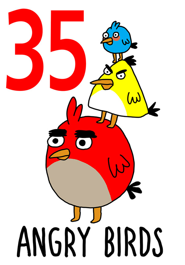 35 - Angry Birds / L'Aucelluzz ( L'uccello)