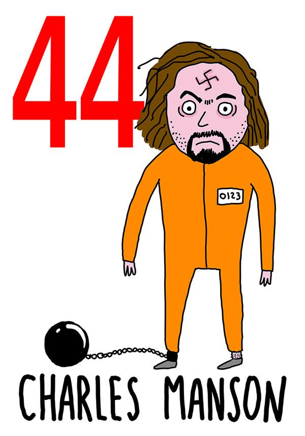 44 - Charles Manson / 'e Ccancelle (Le carceri)