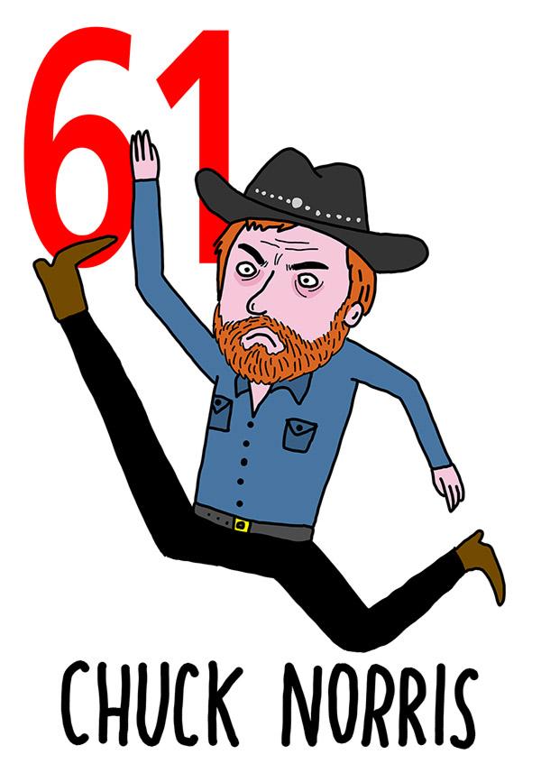 61 - Chuck Norris /  'o Cacciatore  (Il cacciatore)