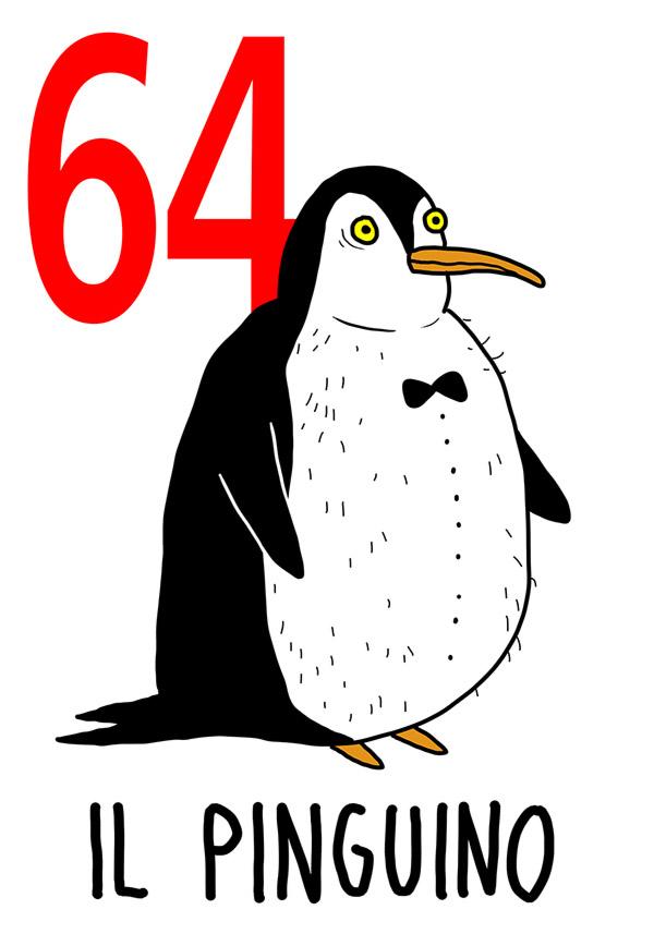 64 - Pinguino /  'a Sciammeria  ( La marsina )