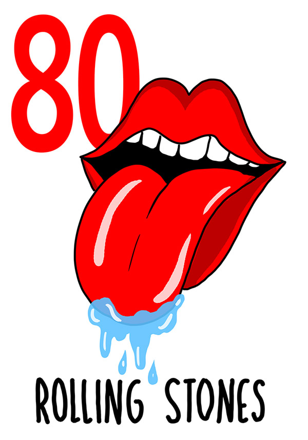 80 - Rolling Stones /  'a Vocca (La bocca)