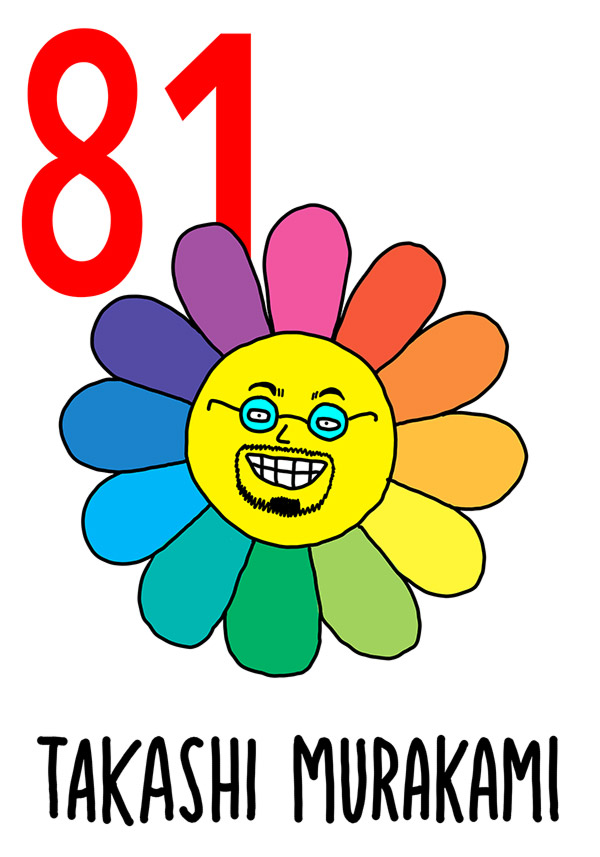 81 - Takashi Murakami /  'e Sciure (I fiori)