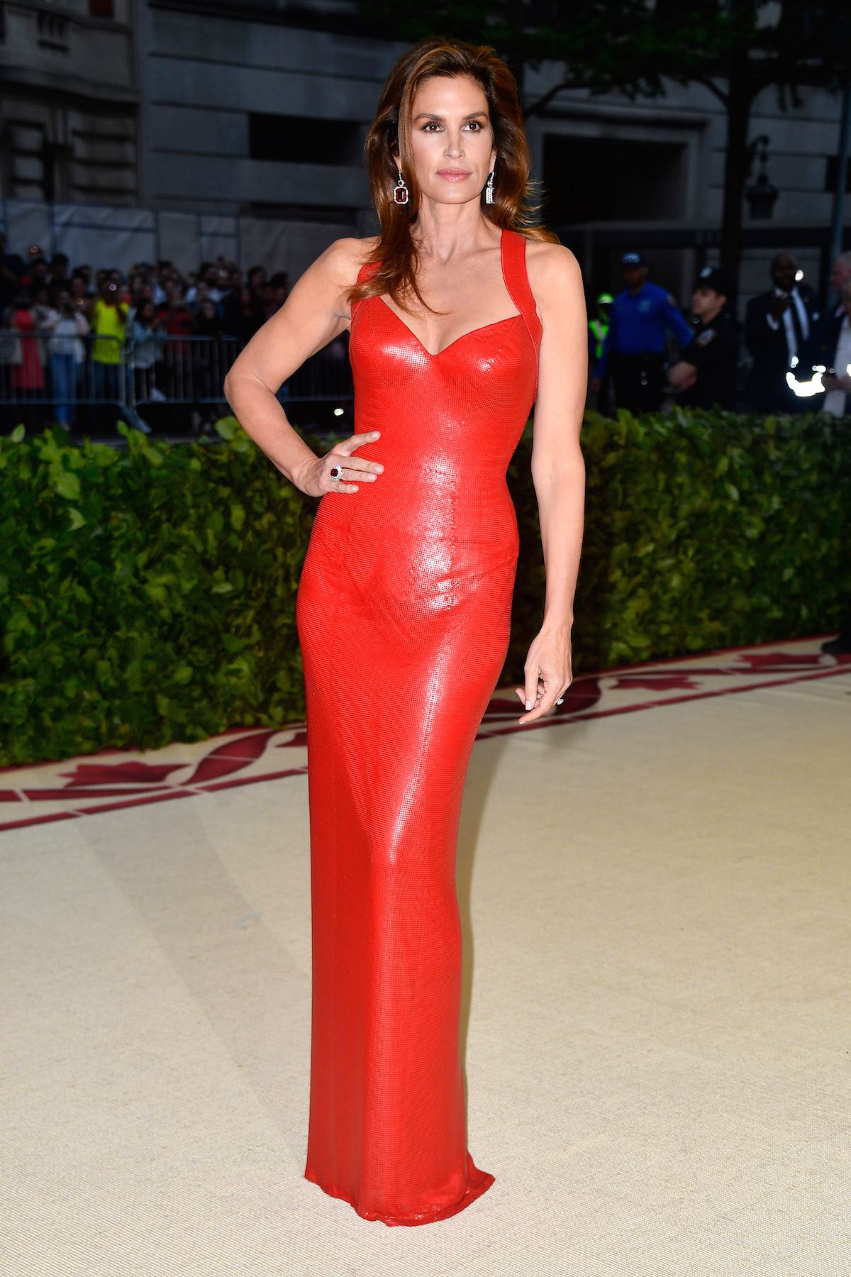 Cindy Crawford in Versace