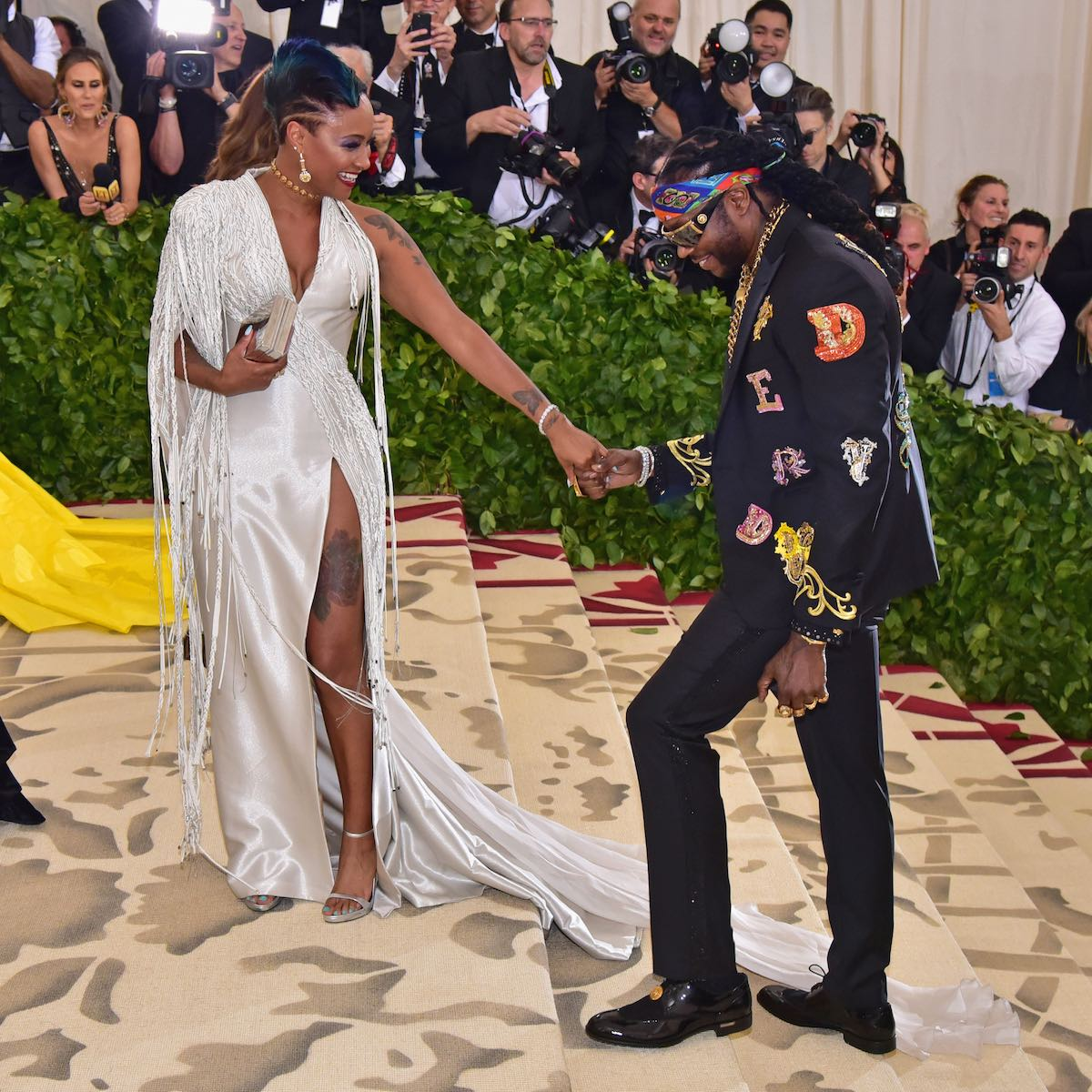 Kesha Ward e 2 Chainz in Versace