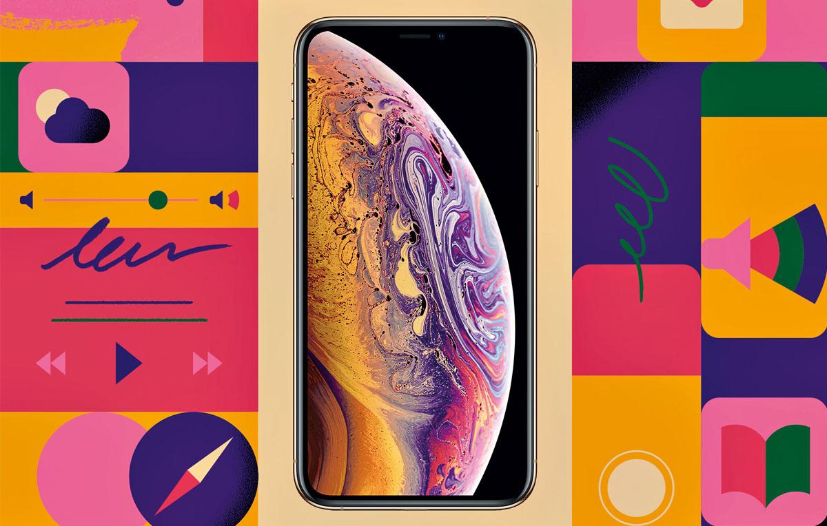 IPHONE XS - È il display più grande mai visto su un iPhone. Fondamentalmente quella S è il simbolo di Superman: il nuovo Apple ha il chip più potente che ci sia, una doppia fotocamera, un Face ID più veloce… Vi basta? Se la risposta è no, non preoccupatevi. C'è un lungo elenco di novità - Illustrazione di Andrea Manzati