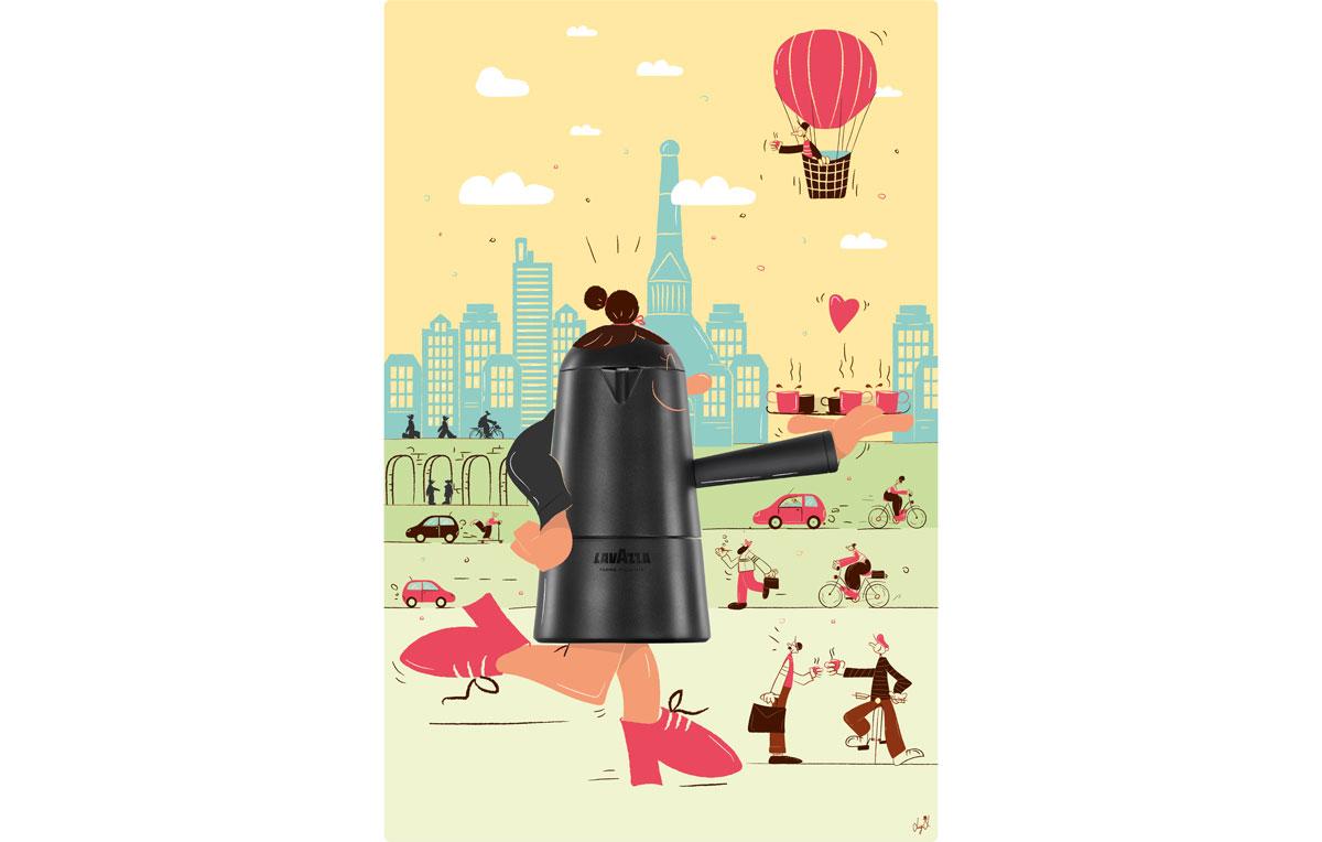 Illustrazione di Luigi Leuce - Vive a Torino dove lavora come illustratore, dopo la laurea presso l'Accademia di Belle Arti e diversi master di illustrazione e grafica editoriale. Adora lo stile vintage e si ispira a Charlie Chaplin e Charlie Brown.