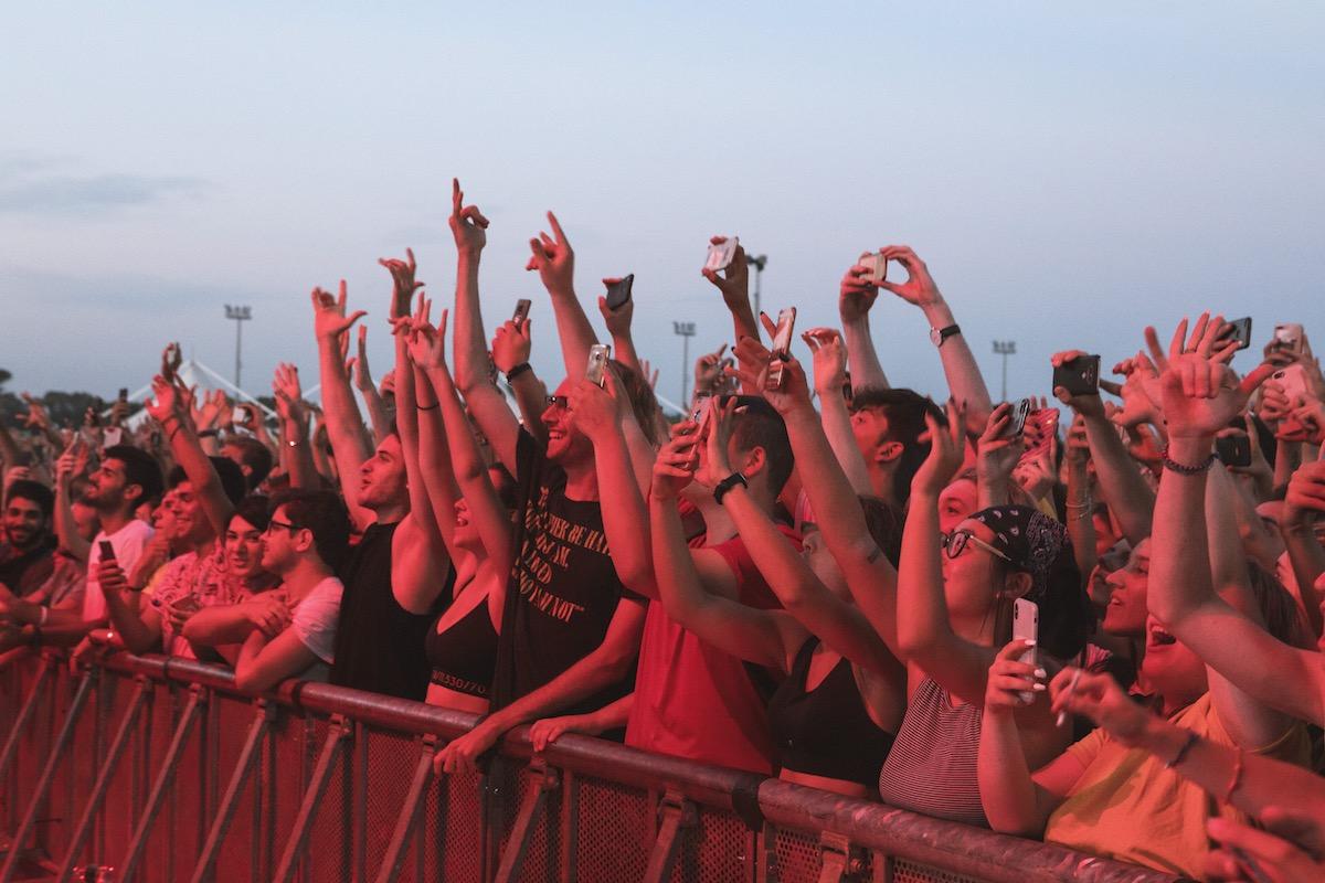 Il pubblico del Rock In Roma