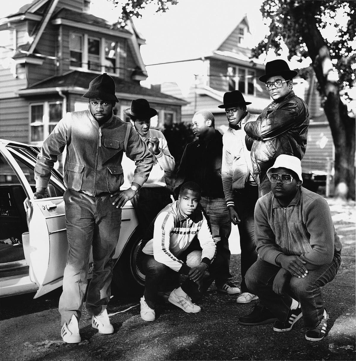 Run DMC & posse Hollis Queens NY ©JanetteBeckman 1984 Courtesy of Fahey:Klein Gallery, Los Angeles