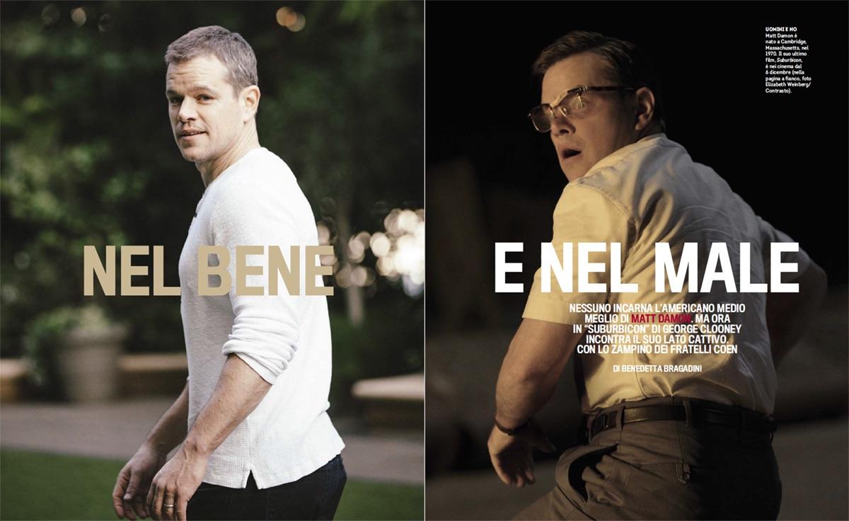Matt Damon, protagonista di 'Suburbicon'
