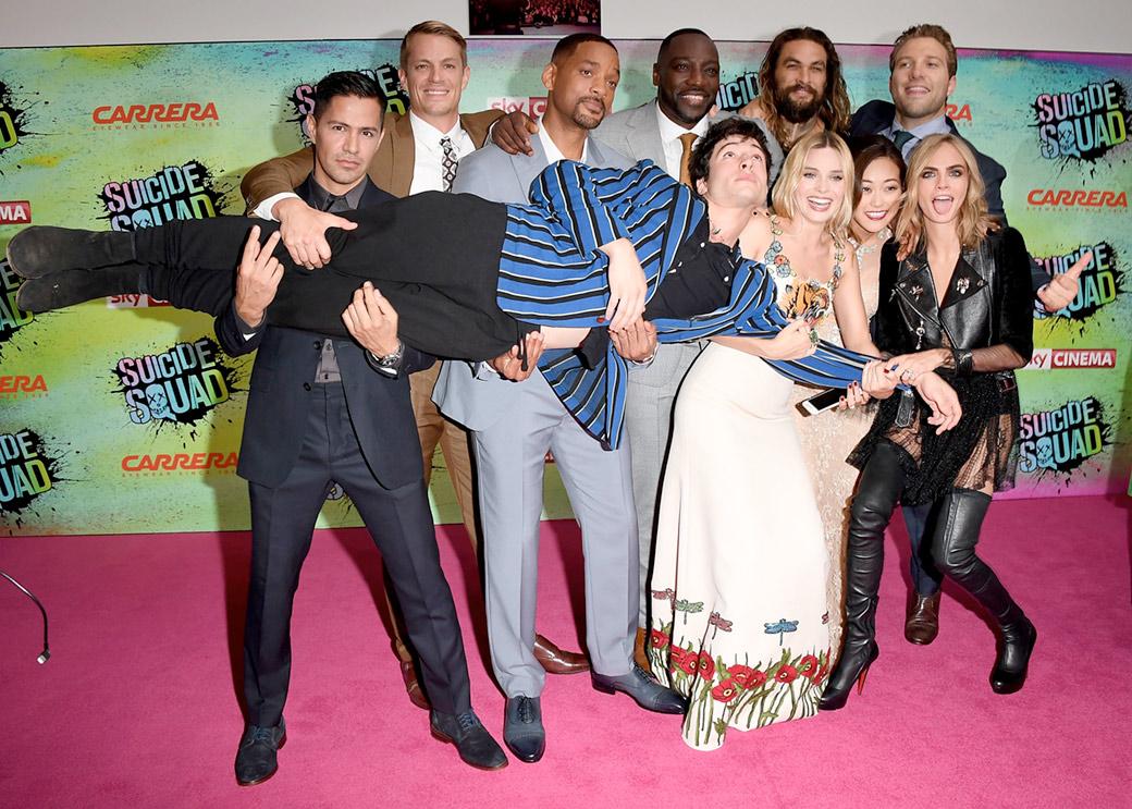Il cast di Suicide Squad. Foto Getty