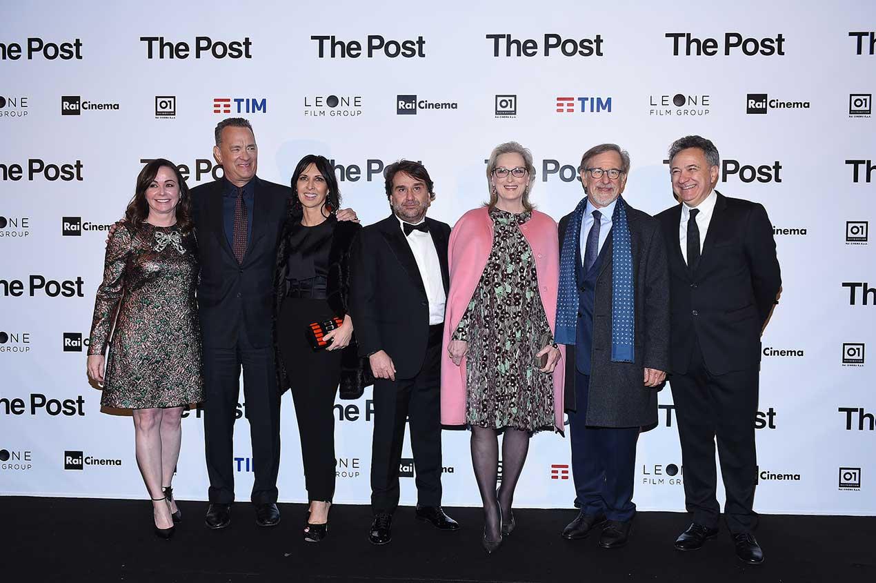 Kristie Macosko Krieger, Tom Hanks, Raffaella Leone, Andrea Leone, Meryl Streep, Steven Spielberg, Paolo Del Brocco,