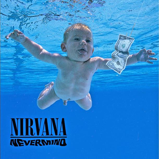 """La copertina di """"Nevermind"""" dei Nirvana"""