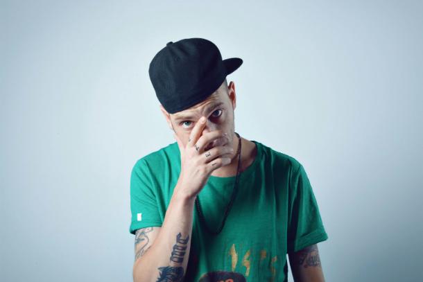 """Il rapper Clemente Maccaro, in arte """"Clementino"""""""