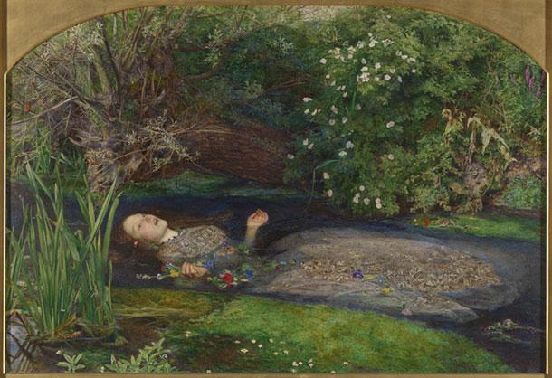 John Everett Millais (1829-1896) Ofelia 1851-52 Olio su tela © Tate, London 2014