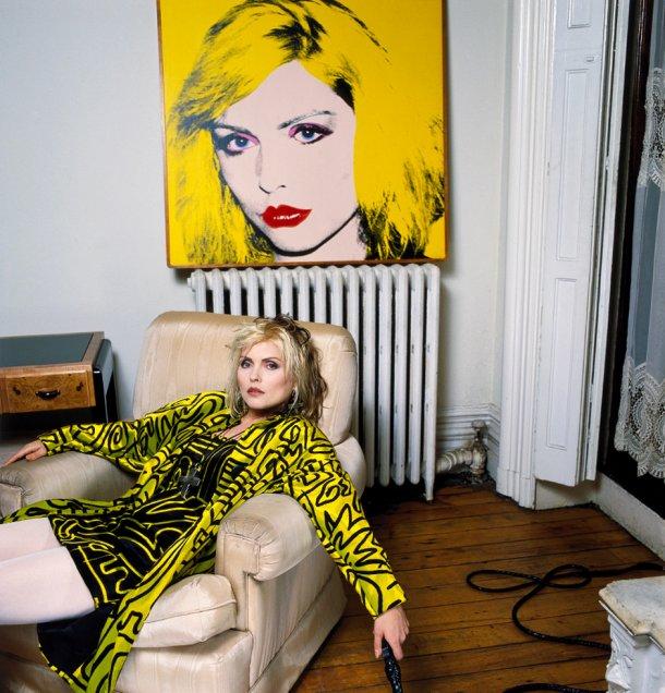 Debbie Harry, New York Apartment with Warhol Portrait, 1988 © Brian Aris