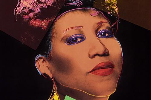 """Aretha Franklin ritratta da Andy Warhol per la copertina di """"Aretha"""" (1986)"""
