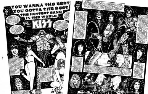 """I Kiss ne """"La Storia del Metal a Fumetti"""""""