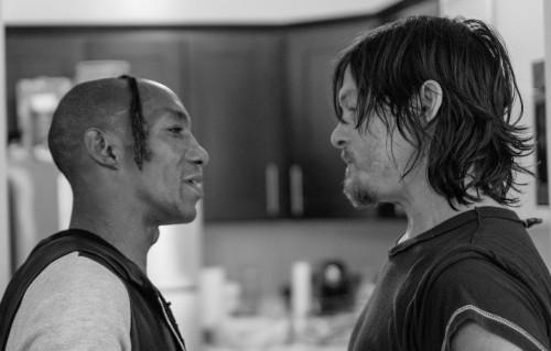 """Tricky con Norman Reedus, il noto sopravvissuto all'apocalisse zombie nella serie tv """"The Walking Dead"""""""