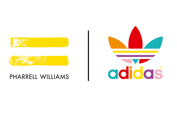 Il logo della collaborazione tra adidas e Pharrell Williams