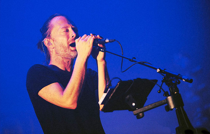 Thom York live con gli Atoms For Peace a Milano, foto GettyImages