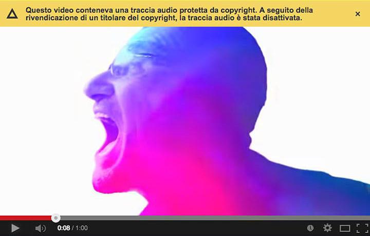 La schermata del canale ufficiale di Apple con il video degli U2