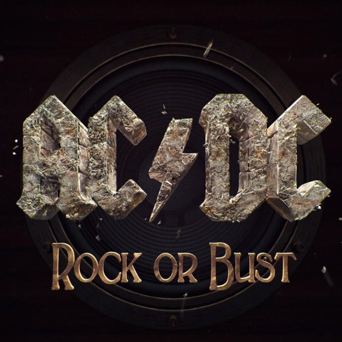 """La cover di """"Rock or Bust"""" degli AC/DC, pubblicato il 1 dicembre 2014"""