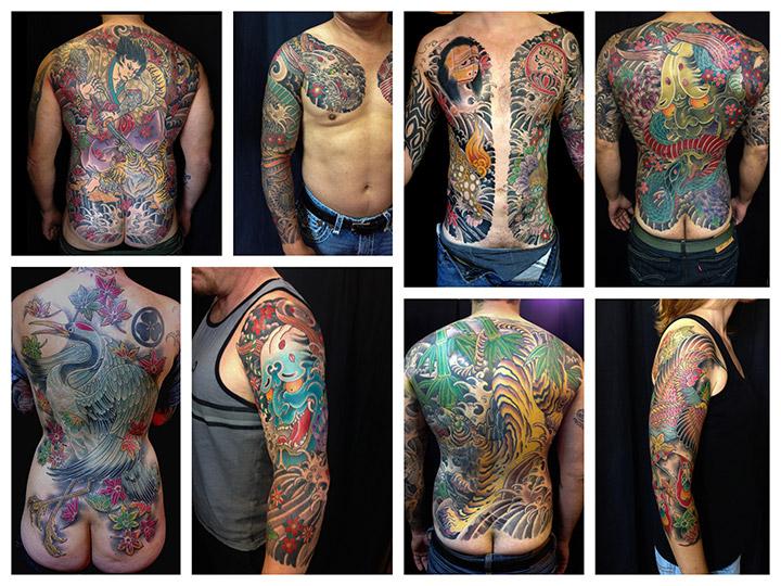 Alcuni dei tatuaggi di Andrea Ricci