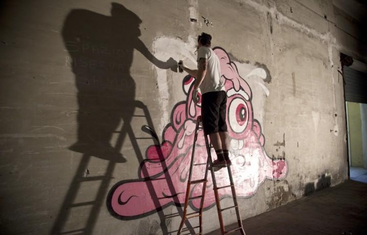 L'artista americano Buff Monster. Nato e cresciuto alle Hawaii, ama l'heavy metal (Foto: Matteo Armellini)