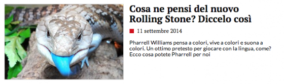 Lingua blu di Pharrell Williams