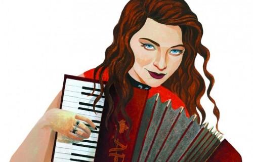 Lorde illustrata da Jody Hewgill