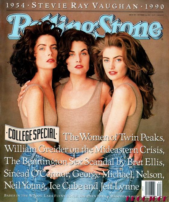 Le donne di Twin Peaks, in copertina del numero 588 (4 ottobre 1990). Fotografia di Matthew Rolston