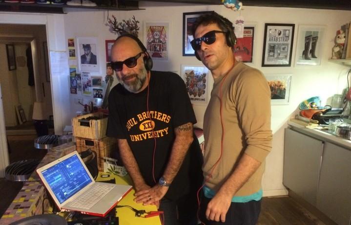 Il DJ e produttore Pierpa Peroni insieme a Filippo Timi, dj per una sera al Lambretto Art Project di Milano
